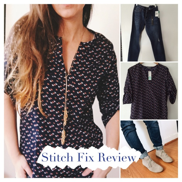 Stitch Fix Review Denim Blouse Necklace