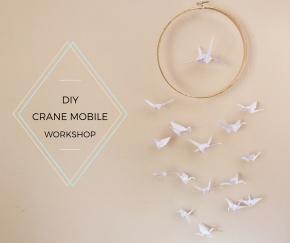 First DIY Workshop: Make a Paper CraneMobile!