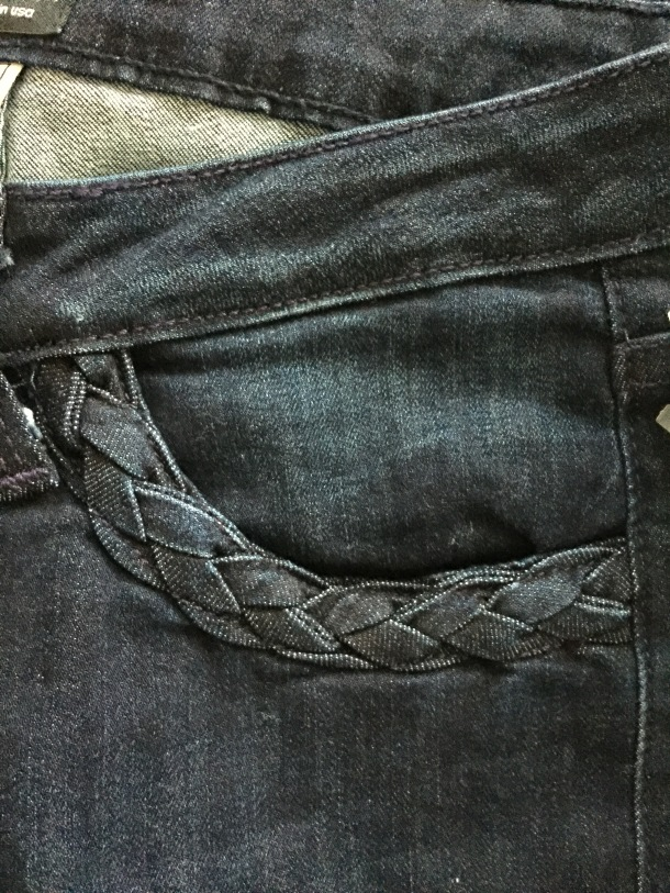 Just Black Irina Braided Pocket Flare Jeans stitch fix