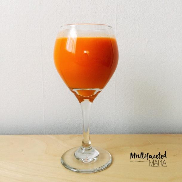 Beets Before Breakfast beautiful orange, golden beet, carrot and turmeric juice recipe