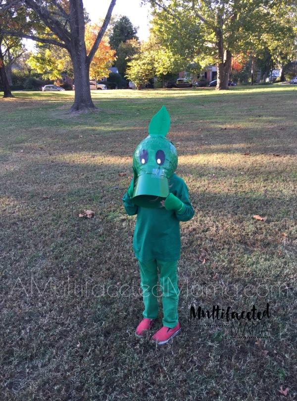 Halloween Peashooter Costume DIY Homemade